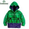Hulk meninos hoodies algodão tees meninos moletom com capuz verde super hero costume bebê primavera cosplay casacos infantis meninos roupas