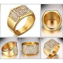 Роскошные Брендовые мужские украшения бриллиантовые кольца для