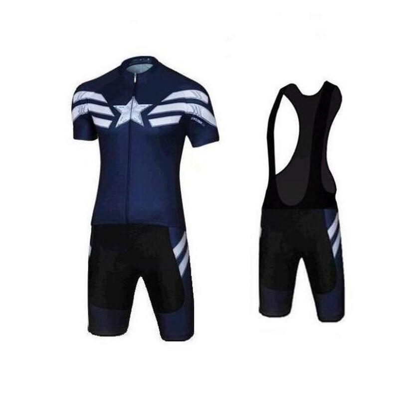 cb6e1ecb7 Customize Team Cycling Jersey Set Short Sleeve Bib Shorts Captain America  Spiderman Superman Iron Cycling Clothing Ropa Ciclismo-in Cycling Sets from  Sports ...