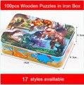 100 шт Набор головоломка для детей из деревянных игрушек