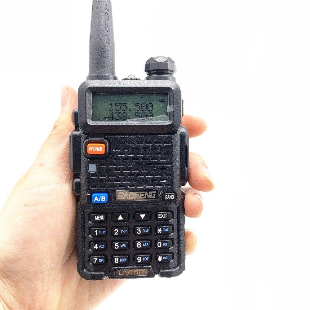 Image 4 - 2PCS BaoFeng UV 5R Walkie Talkie 5w CB Ham Radio hf fm Transceiver 128CH VHF&UHF Handheld Radio Station For Hunting 10km UV 5R-in Walkie Talkie from Cellphones & Telecommunications