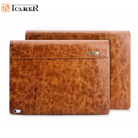 Icarer Universal Oil Wax Genuine Leather Flip Case For Surface Book 2 (i7 CPU) Leather Flip Cover For Surface Book 2(i7 CPU)