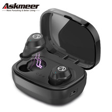 Askmeer X10 Tws Bluetooth Earphones Mini Wireless Earbuds Waterproof Sport Handsfree Earphone Cordless Headset with Charging Box