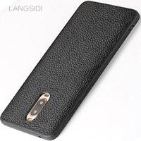 LANGSIDI Brand Phone Case Litchi Grain All Inclusive Phone Case For Huawei Mate 9 Pro Phone