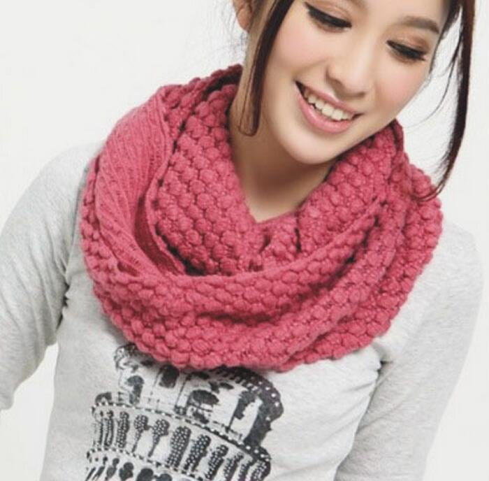 2016 Winter Cable Ring Scarf Women Knitting Infinity Scarves Knitted Warm Neck Circle Scarf bufandas cuellos Hot Sale(China (Mainland))
