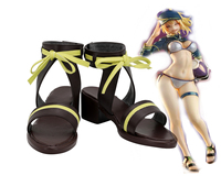Fate Grand Order Mysterious Heroine XX SwimSuit Cosplay Sandals Brown FGO Shoes Custom Made