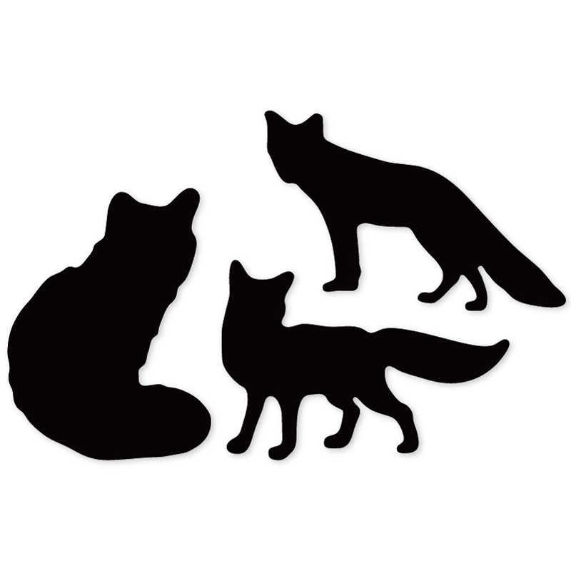 Raposas 3 emboss Morre cortes de Corte Morre Scrapbooking artesanato de papel fino de Metal faca stencil 128*84mm