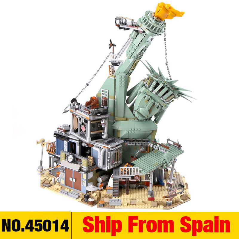 45014 Movie Seies The Statue of Liberty Welcome to Apocalypseburg Building Block Bricks Compatible with 70840
