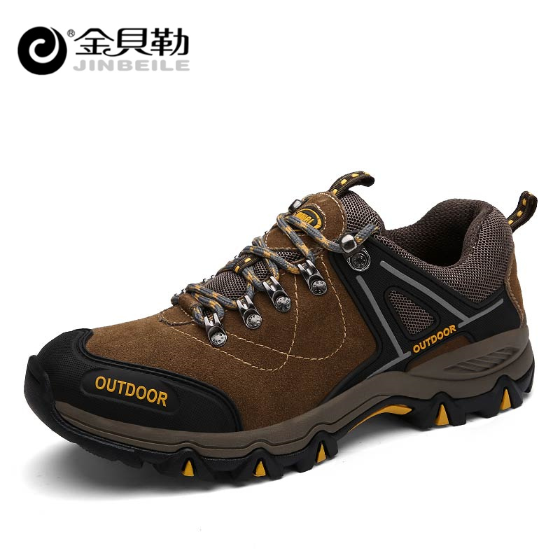 JINBEILE Man Outdoor Hiking Shoes Fishing Athletic Trekking Boots Climbing Walking Sneakers Men Sport Shoes Field Mountain Shoes peak sport men outdoor bas basketball shoes medium cut breathable comfortable revolve tech sneakers athletic training boots