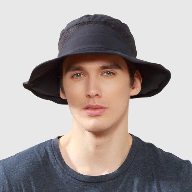 Kenmont Summer Men Boonie Bucket Hat Visors Wide Brim Western UV Neck  Protection Foldable Sun Hats Fishing Cap DE 3027-in Bucket Hats from  Apparel ... fbdb4b46ad2