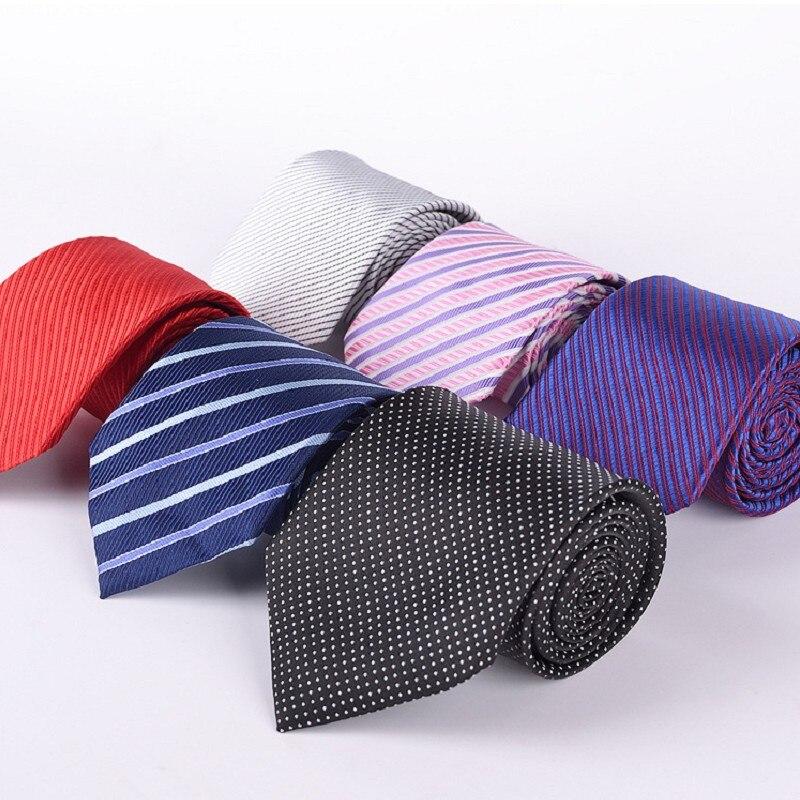 men strips necktie polyester tie for men ascot wide neckties black pink neck tie business neckwear mixed wholesale