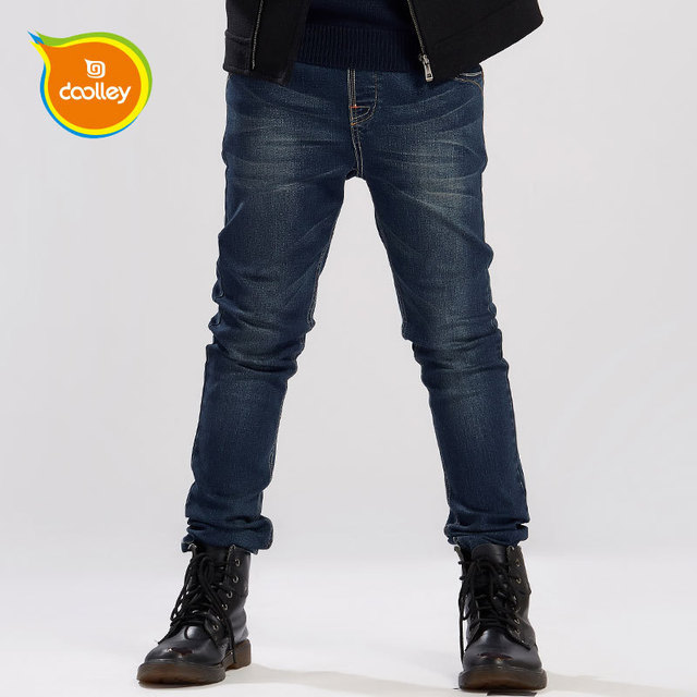 DOOLLEY Menino Moda Calças Jeans Regulares 2017 Nova Chegada Calças Jeans Roupa Das Crianças Tamanho 130-170 cm
