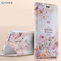 Gview Etui Do iPhone 6 s Plus 5.5 Cal-3D tłoczone Drukowanie PU Leather Klapka Stań w Kwiatowy Luksusowe styl