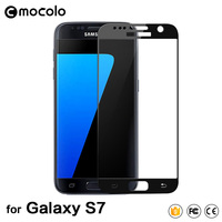 2pcs Tempered Full Cover Glass For Samsung Galaxy S7 Black White Gold 3 Colors In Stock