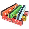 16-hole Armónica Niños Niños Juguete Educativo Del Instrumento Musical de madera-Patrón Aleatorio