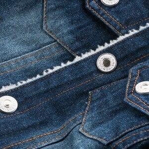 Image 4 - Dimusi zimowa kurtka dżinsowa chłopcy dżinsy kurtki Retro dodatkowo pogrubiony aksamitna kurtka dżinsowa dzieci taktyczne ciepłe wiatrówki płaszcze dżinsowe