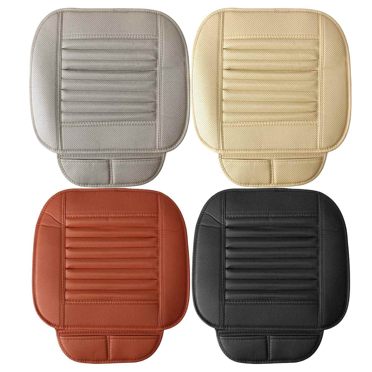 car seats protect mat cover car seat cover pad breathable cushion pu leather universal beige. Black Bedroom Furniture Sets. Home Design Ideas