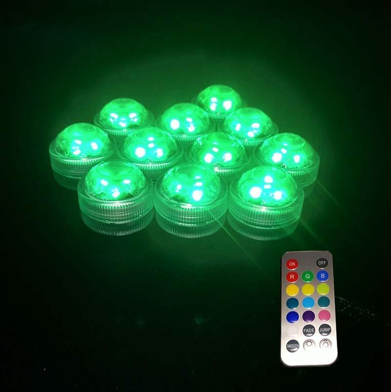 10PCS Super lyse 3smd te lys nedsenkbar ledet lys vanntett Bryllup / - Ferie belysning - Bilde 3