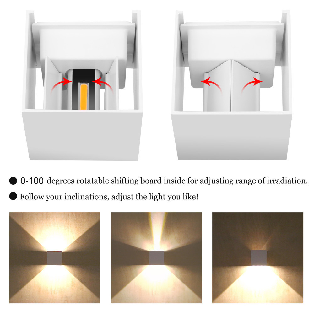 6W 12W Waterproof AC85 265V Surface Mounted LED Wall Light Modern Nordic Luminaire Indoor Wall Lamps