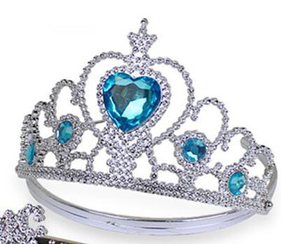 Neue Gefrorene Crown Twinkle Haar Zubehör Für Mädchen Prinzessin Braut Krone Kristall Tiara Hoop Stirnband Haar Bands Hell Und Durchscheinend Im Aussehen Hochzeits- & Verlobungs-schmuck