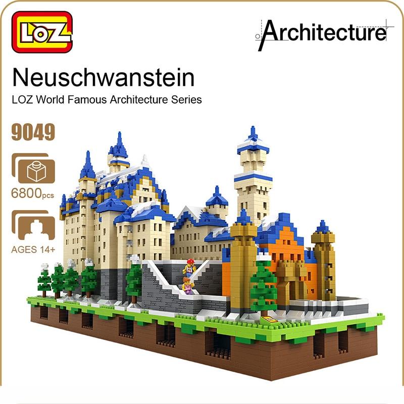 LOZ Diamond Blocks Schloss Neuschwanstein Castle Swan Stone Building Blocks Set Educational Blocks Architecture Toys Bricks 9049 feiyutech feiyu spg gimbal 3 axis splash proof handheld gimbal stabilizer for iphone x 8 7 6 plus smartphone gopro action camera