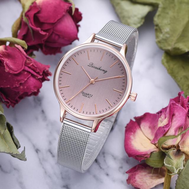 Duobla Hot Sale Luxury Fashion Women Watch Stainless Steel Analog Quartz Wristwatch Minimalist Silver Bracelet relogio 2019 30Q