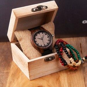 Image 2 - ボボ鳥高級ブランド黒檀時計カスタマイズされたギフトクォーツムーブメント腕時計息子ママパパボーイフレンド刻ま