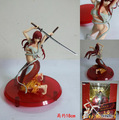 Amine japonês Fairy Tail Erza Scarlet Amakuni Yoto Benisakura Hakama Ver PVC Action Figure 18 cm Modelo Brinquedos Dom Gratuito grátis