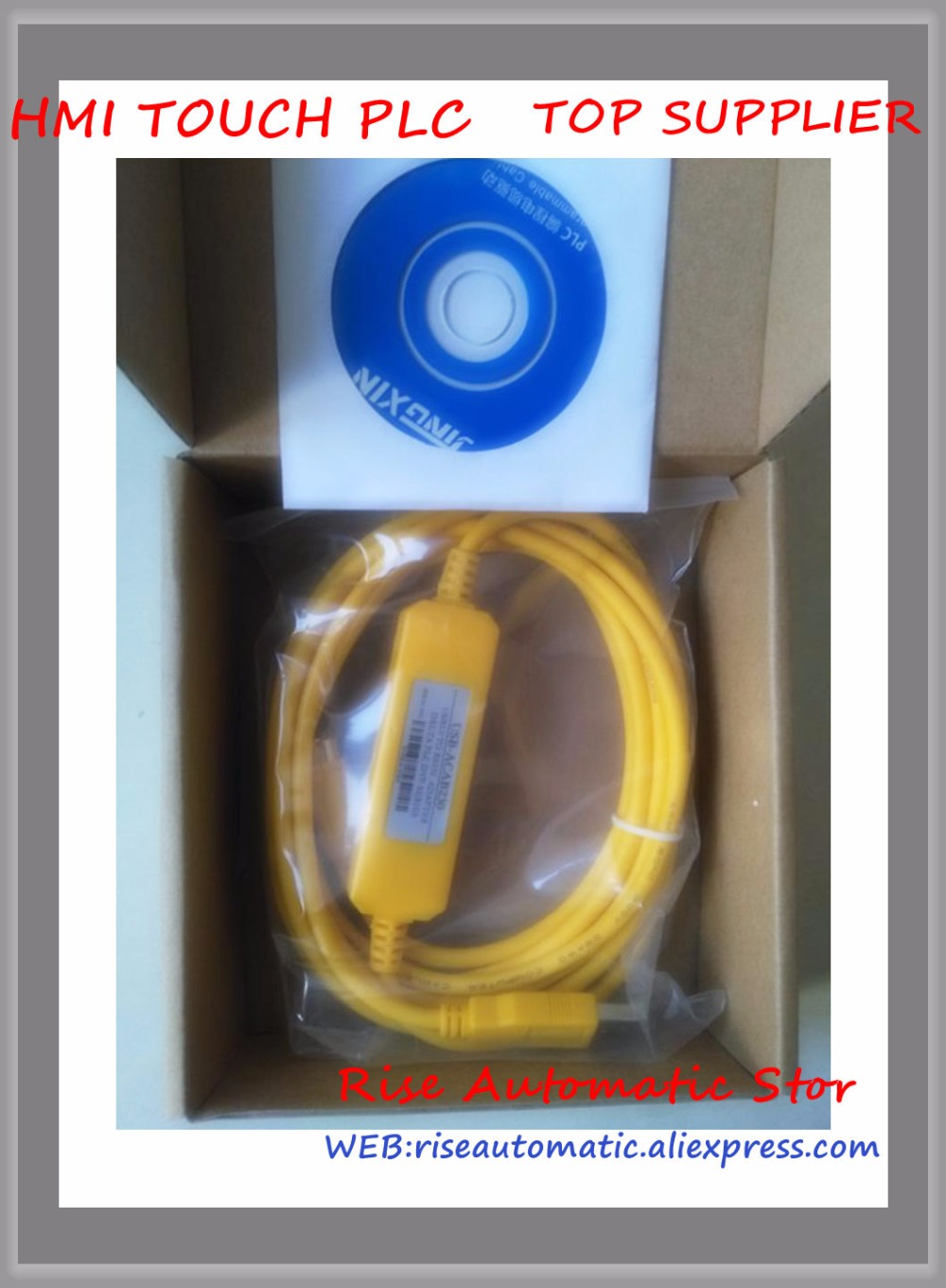 Compatible USB-ACAB230 Programmer Cable USBACAB230 (USB-DVP) USB Adapter for DVP series PLC Win7 Win8 Usable