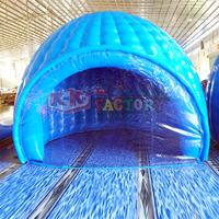 4m inflatable Luna tent ,structrue moon luna pod, half circular blue bar for yard party event