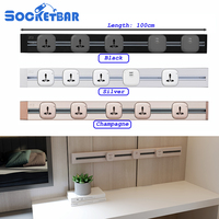 Factory Free Combination 100cm Length Universal socket 2 USB Ports Living Room Kitchen Plug Sockets