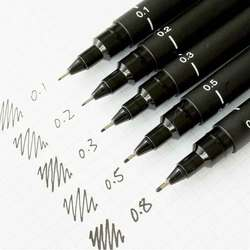 6pcs pack waterproof drawing pen ultra fine line marker ink black sketch pen 005 01 02.jpg 250x250