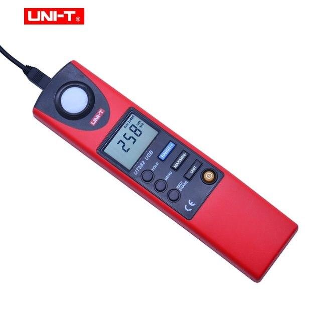 UNI-T UT382 Light Meter  Auto range Digital Light Meter 20-20000 Lux Luxmeter Data hold Digital Illuminometer USB interface