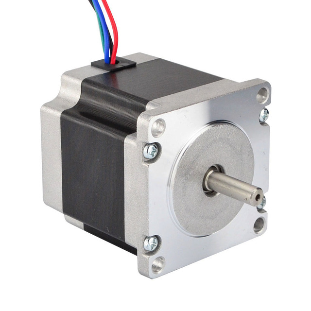 3PCS Nema 23 Stepper Motor 1.26Nm(178.4oz.in) 56mm 2.8A 4-lead Nema23 Step Motor 6.35mm Shaft for CNC Mill Lathe Router