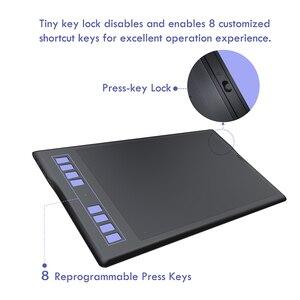 Image 4 - هويون إلهام روي Q11K اللاسلكية الرقمية لويحة الرسم البياني القلم اللوحة أقراص مع 8192 مستويات 8 مفاتيح صريحة و حامل قلم
