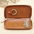 Fashion Genuine Leather Key Holder Case Mini Zipper Pocket Pouch Business Travel Keys Wallets Bag Porte Cle For Home Keys