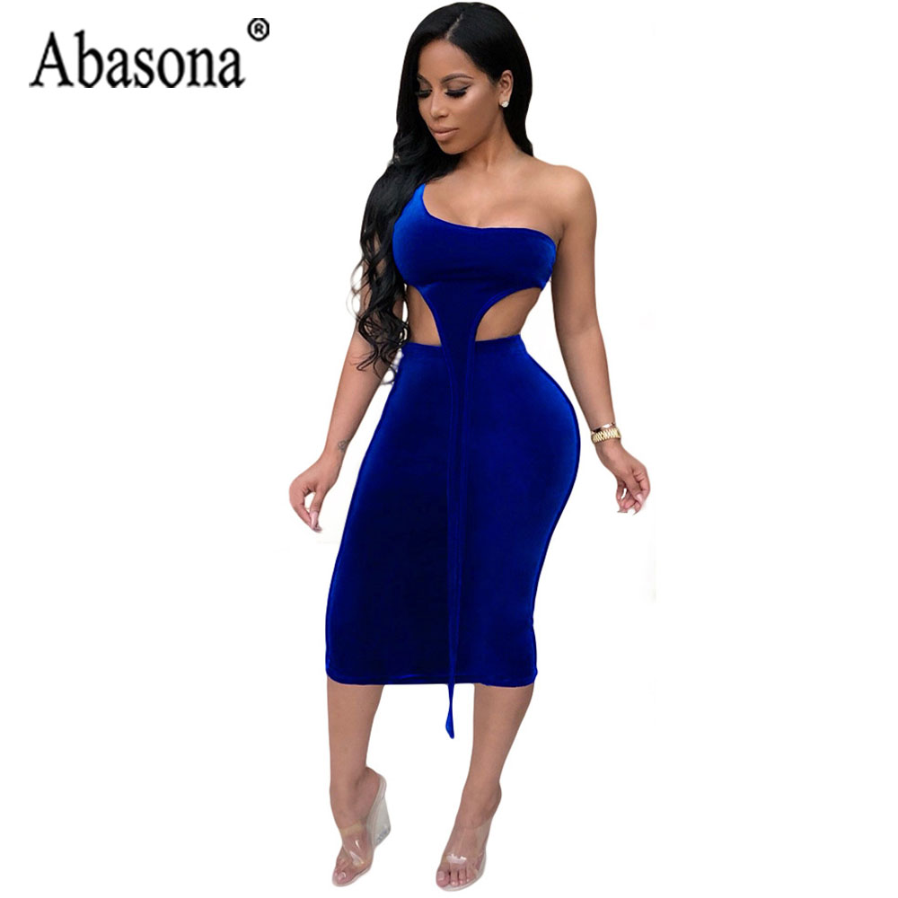 649863cec247 Abasona Blue Women Sexy 2 Piece Sets Strapless Dress Irregular Tank Womens  Bodycon Midi Dress Hollow