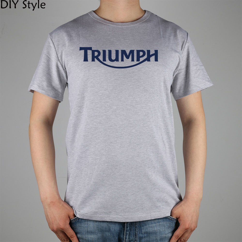 Design t shirt cheap uk - Triumph Uk Blue Logo T Shirt Cotton Lycra Top 6391 Fashion Brand T Shirt Men