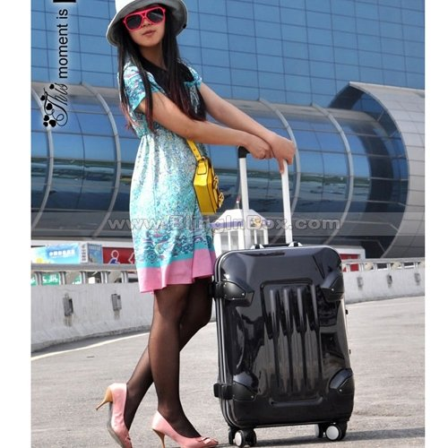Aliexpress.com : Buy 20inch Dotted pattern trolley luggage High ...