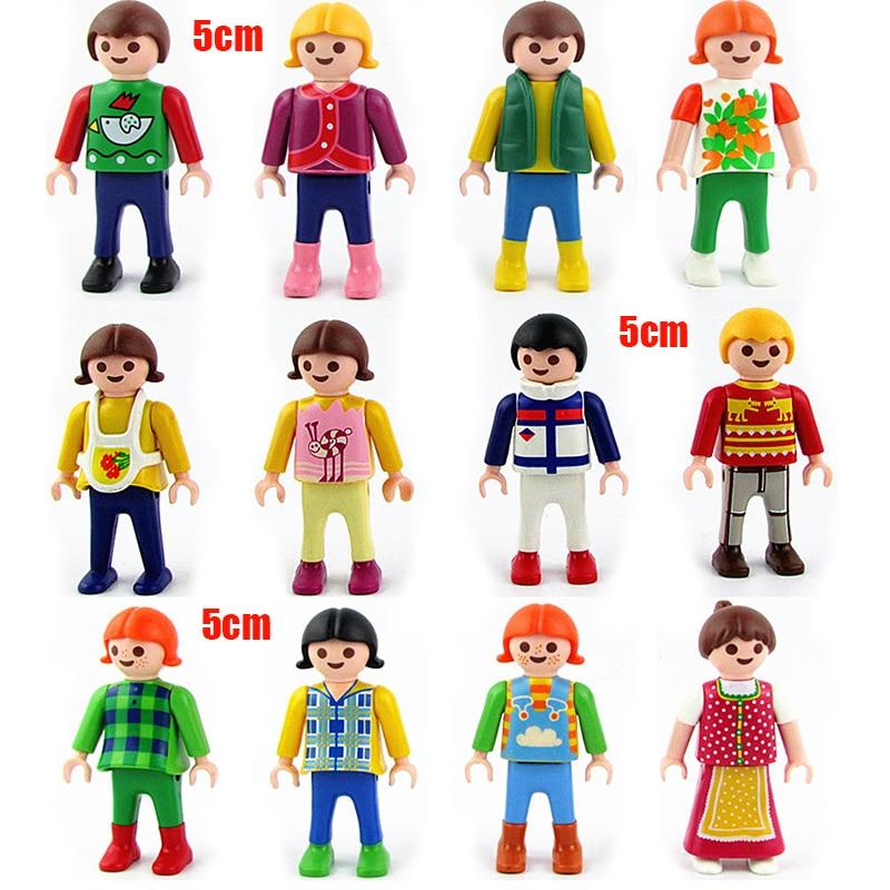 Germany Building Toys For Boys : Pcs lot cm playmobil pvc blocks figures mini toys
