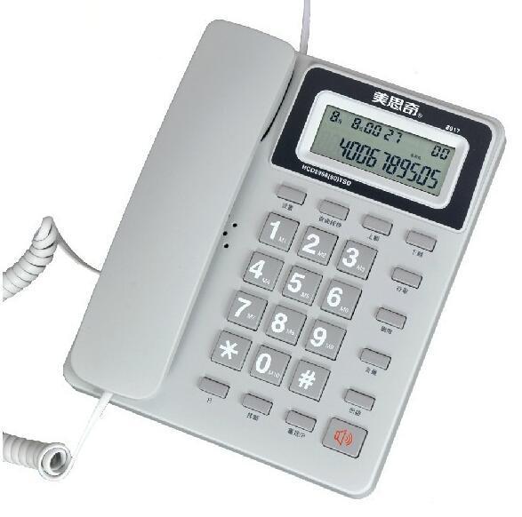 Мода Стационарный Сотовый Телефон Без Батареи Caller ID Фиксированной Телефонной линии Для Домашнего Офиса Отель Telefono Fijo