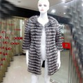 Hot! New Spring Women Genuine Silver Fox Fur Outwear Jacket Natural Furs Vests Waistcoats Fox Fur Coat Real Plus Size BF-C0006