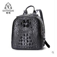 gete 2019 Imported crocodile skin backpack for women Siamese crocodile back leather leather crocodile bag for women business