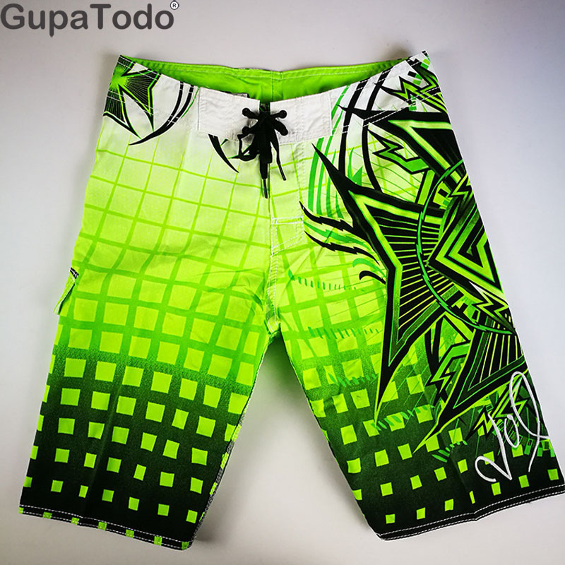 GupaTodo Beach Board Shorts Swimwear Men Swimming Trunks Male Surfing Breathable