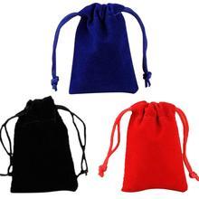 Фланелевый двусторонний шнурок напульсник Карманный мешок высококачественные ювелирные украшения однотонные сумки портативный многофункциональный пакет сумка