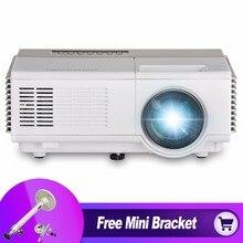 Caiwei 1080 P дома Театр мини-проектор Цифровой ТВ видео детей Портативный HD HDMI проектор для ПК ТВ с бесплатная Мини кронштейн