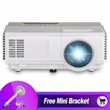 CAIWEI 1080p Home Theater Mini Projector Digital TV Video Kids Portable HD HDMI Projector LED for PC TV with Free Mini Bracket
