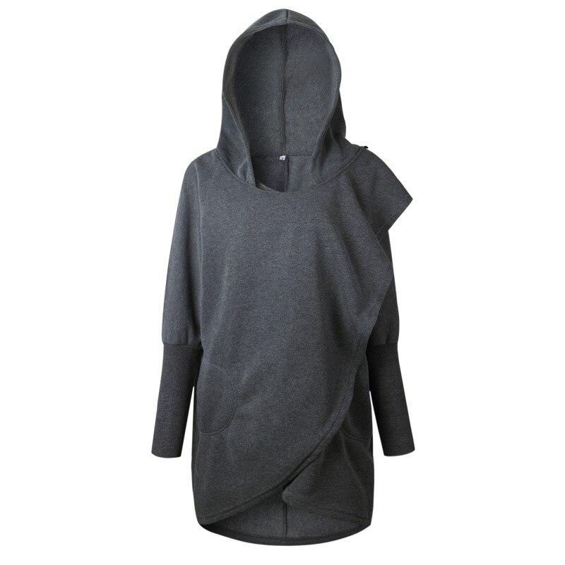 2018 New Design Women Fashion Sweatshirts Hooded Solid Color Loose Sweatshirt Casual Long Sleeve Pullover Sudaderas Mujer