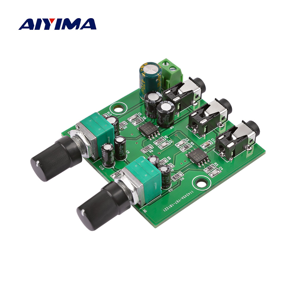 Sporting Aiyima 4 Ways Stereo Audio Mixer Board Drive Headphone Amplifier Mixing Board Diy Njm3414 Four Inputs One Output Home Audio & Video