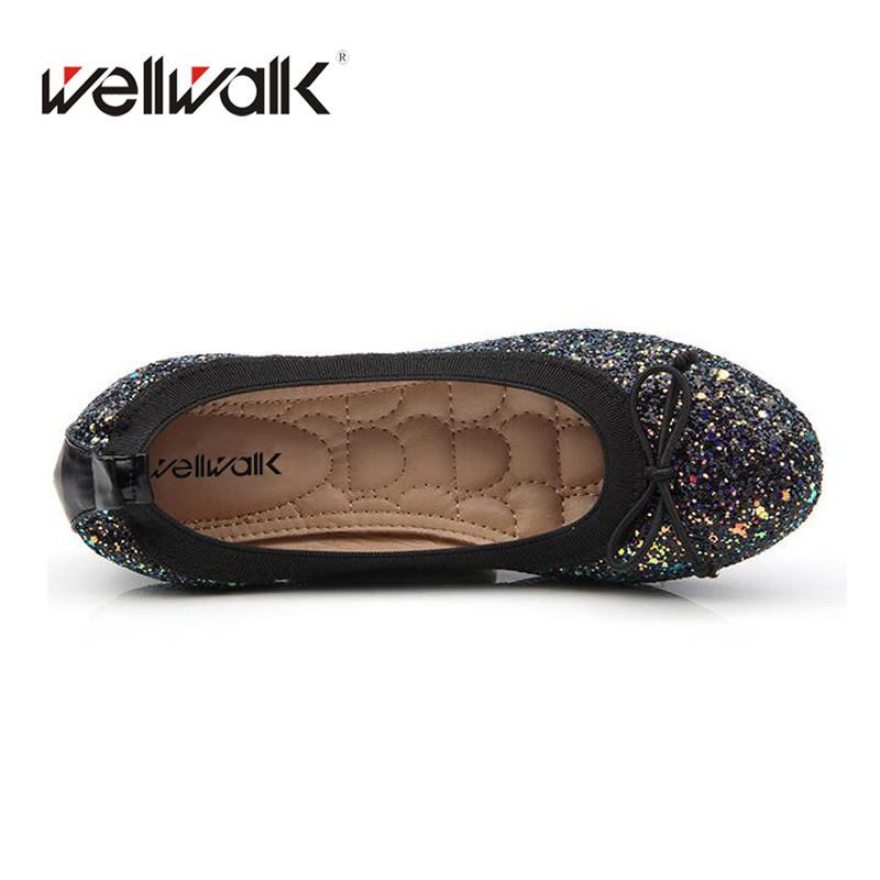 2018 Round Toe Ballet Flats Bling Ballerinas Flexible Comfortable Casuel Women  Flats Fashion Spring Autumn Women Shoes-in Women s Flats from Shoes on ... 0d4658803a2d